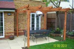 Pergola built with heater/light
